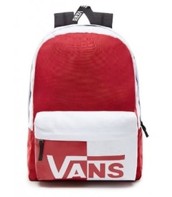 Červeno-biely batoh VANS