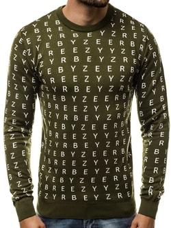 0f2703fd5 Zaujímavý khaki sveter BREEZY B/2397 - L