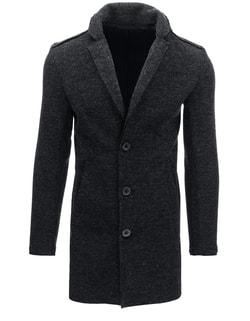 Úžasný antracitový pánsky kabát - XXL