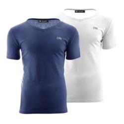 Set modrého a bieleho trička - XXL