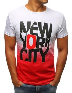 Bielo-červené tričko New York city - XXL