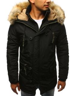Zimná pánska čierna bunda