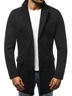Pánsky čierny kabát OZONEE JS NZ01 - M 7b9ed134882