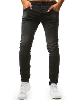 Čierne džínsové nohavice - 38