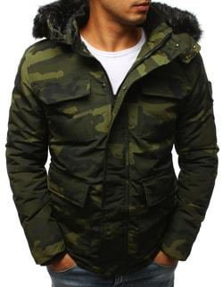 Štýlová maskáčová zimná bunda