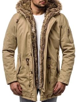 Béžová zimná bunda OZONEE JB/1065