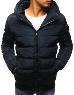 Granátová zimná bunda s prešívaním - L