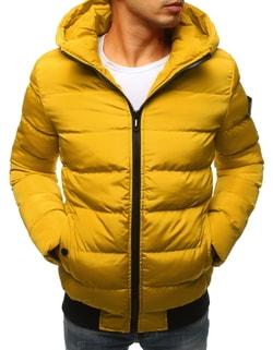 Očarujúca žltá bunda na zimu