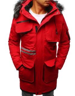 Senzačná zimná bunda červená - L