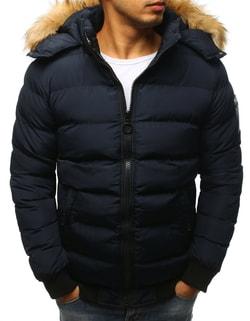 Zaujímavá granátová zimná bunda - L