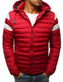 Senzačná zimná bunda v červenej farbe - L