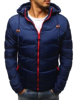 Granátová zimná bunda s červeným zipsom - L
