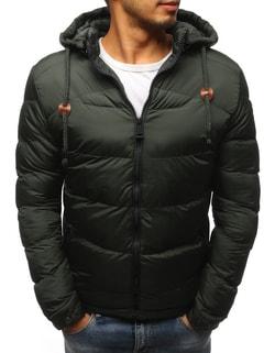 Jedinečná zimná bunda v zelenej farbe - L