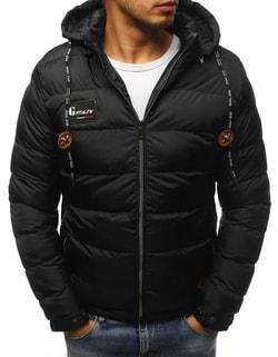 Zaujímavá čierna bunda na zimu