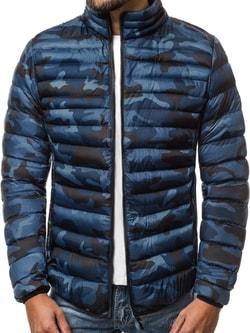 Prešívaná zimná bunda granátová - L
