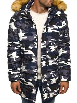 Trendy zimná bunda modrá OZONEE 3160