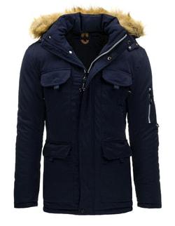 96a475c163 Pánska zimná bunda v granátovej farbe