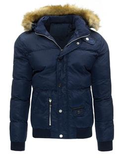 Štýlová pánska zimná bunda granátovej farby